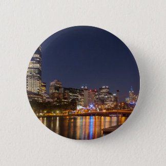 Melbourne' Yarra River at night 2 Inch Round Button
