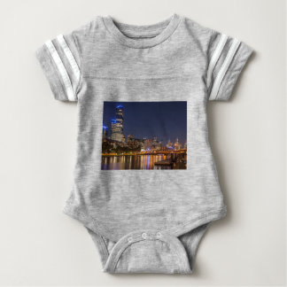 Melbourne' Yarra River at night Baby Bodysuit