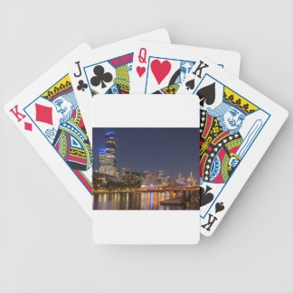 Melbourne' Yarra River at night Bicycle Playing Cards