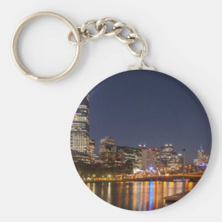 Melbourne' Yarra River at night Keychain