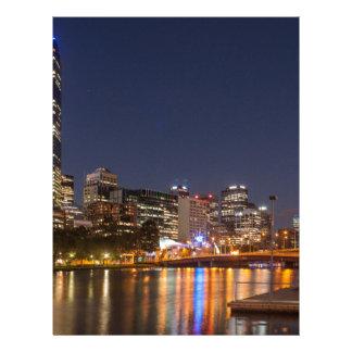 Melbourne' Yarra River at night Letterhead
