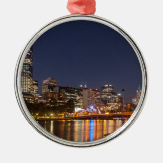 Melbourne' Yarra River at night Metal Ornament