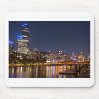 Melbourne' Yarra River at night Mouse Pad