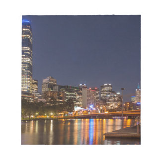 Melbourne' Yarra River at night Notepad