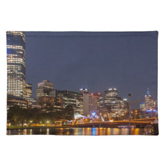 Melbourne' Yarra River at night Placemat