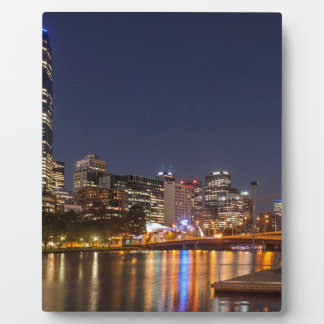 Melbourne' Yarra River at night Plaque