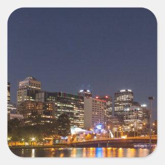Melbourne' Yarra River at night Square Sticker