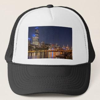 Melbourne' Yarra River at night Trucker Hat