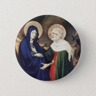 Melchior Broederlam- The Visitation 2 Inch Round Button