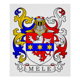 Mele Coat of Arms (Italian) Poster