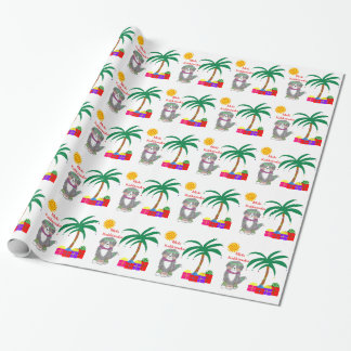 Mele Kalikimaka Bernese Mountain Dog Wrapping Paper