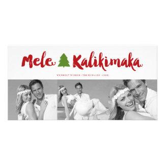 Mele Kalikimaka Brush Christmas Photo Holiday Card
