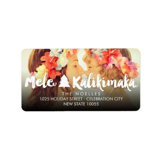 Mele Kalikimaka Christmas Fun Photo Address Labels