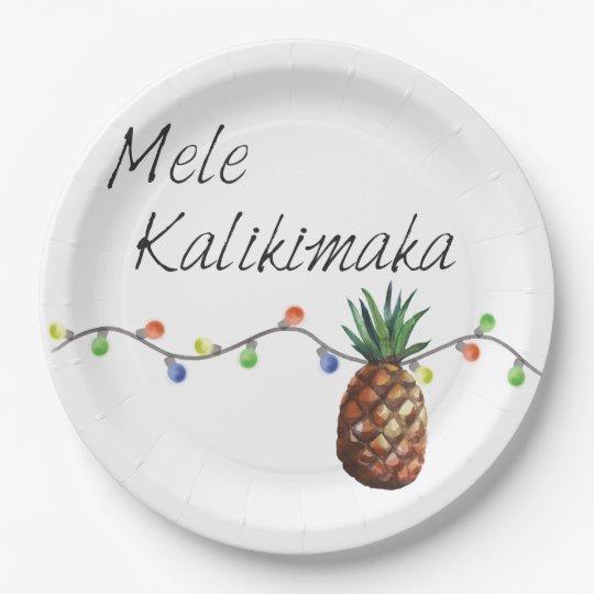 Mele Kalikimaka - Christmas Paper Plates 9 Inch Paper Plate