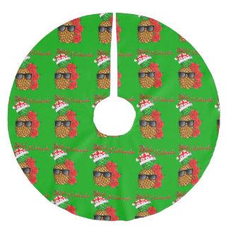 Mele Kalikimaka Christmas Pineapple Brushed Polyester Tree Skirt