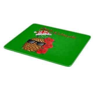 Mele Kalikimaka Christmas Pineapple Cutting Board
