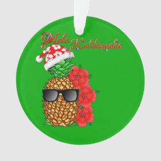 Mele Kalikimaka Christmas Pineapple Ornament