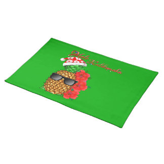 Mele Kalikimaka Christmas Pineapple Placemat