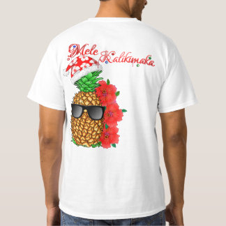 Mele Kalikimaka Christmas Pineapple T-Shirt