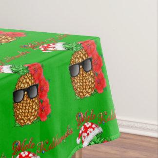 Mele Kalikimaka Christmas Pineapple Tablecloth