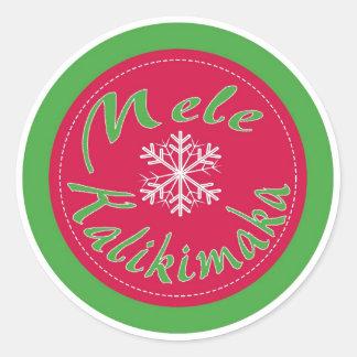 Mele Kalikimaka Hawaii Merry Christmas stickers