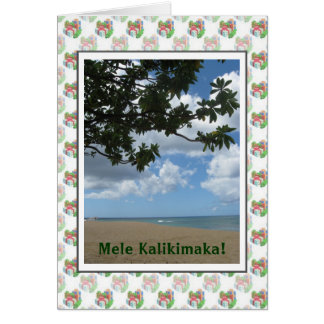 Mele Kalikimaka Hawaiian Christmas Card