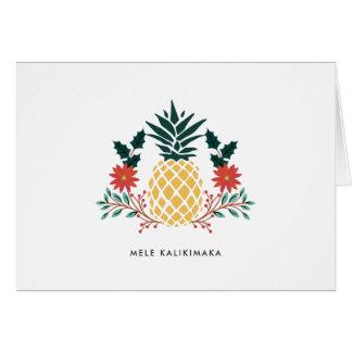 Mele Kalikimaka | Hawaiian Christmas Pineapple Card