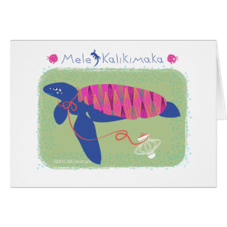 Mele Kalikimaka /Merry Christmas turtle Card