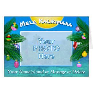 Mele Kalikimaka Personalized PHOTO Christmas Cards