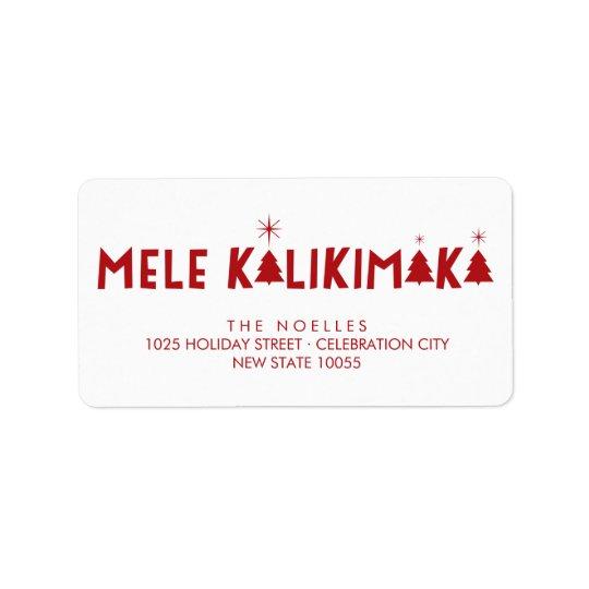 Mele Kalikimaka Shine Christmas Address Labels