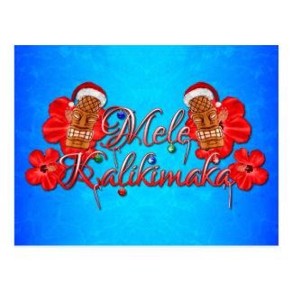 Mele Kalikimaka Tiki Postcard