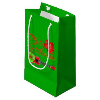 Mele Kalikimaka Ukulele Small Gift Bag