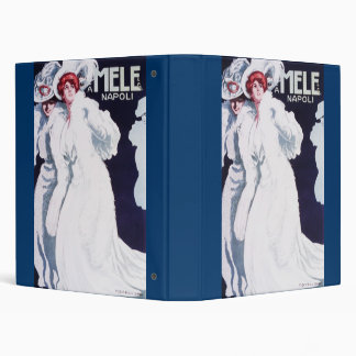 Mele Napoli Art Nouveau 3 Ring Binder