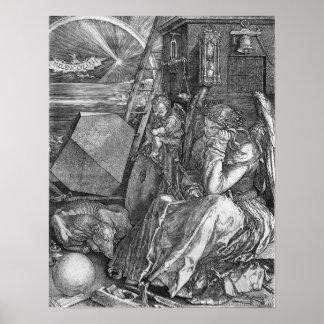 Melencolia Print by Albrecht Durer
