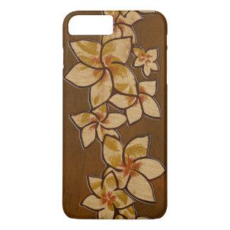 Melia Hawaiian Plumeria Faux Wood iPhone 8 Plus/7 Plus Case