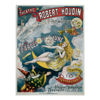 Melies French Magician Vintage Magic Act Poster