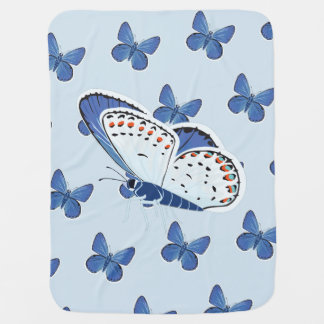 Melissa Blue Butterfly Baby Blanket