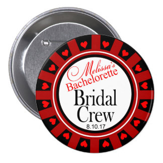 Melissa's Bridal Crew Bachelorette button