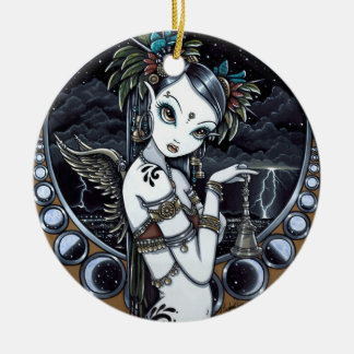 """Melita"" Goth Tribal Fusion Dancer Angel Ornaments"