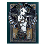 """Melita"" Goth Tribal Fusion Dancer Angel Postcard"