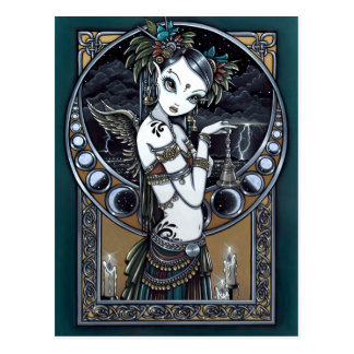"""Melita"" Goth Tribal Fusion Dancer Angel Postcard"