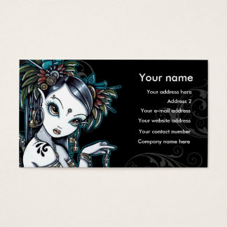 """Melita"" Goth Tribal Fusion Dancer Business Cards"