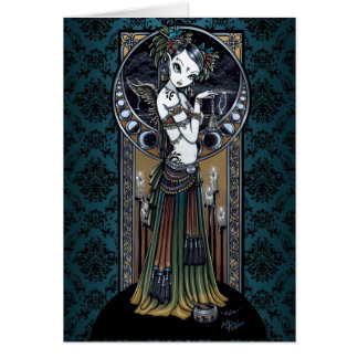 """Melita"" Gothic Tribal Fusion Dancer Art Card"