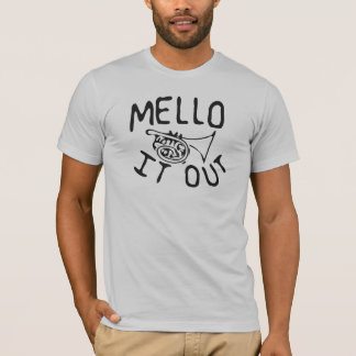 Mello It Out sketch-style mellophone shirt