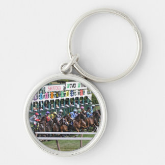 Mellon Turf Silver-Colored Round Keychain