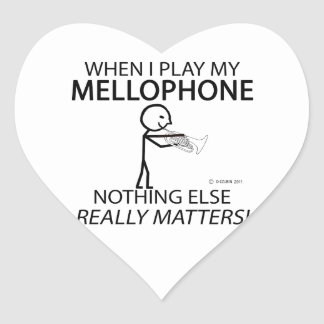 Mellophone Nothing Else Matters Heart Sticker