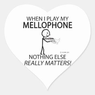 Mellophone Nothing Else Matters Heart Sticker
