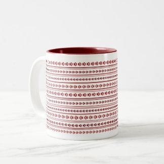 Mellow Burgundy Paw Print Stripe Mug
