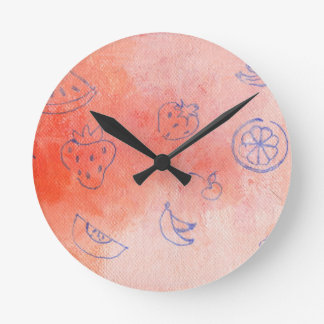mellow meadow round clock