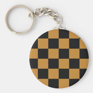 Mellow Mustard Checkerboard Keychain